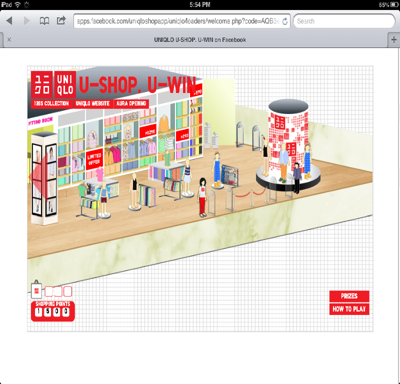 Uniqlo Philippines Facebook Application UShop UWin