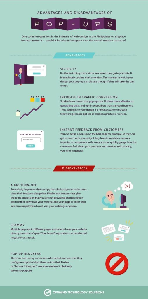 Advantages & Disadvantages of Pop-ups_Infographic
