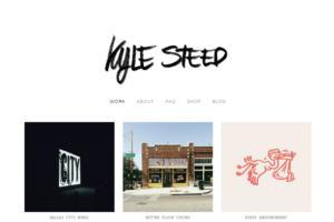 bold typography minimalist web design