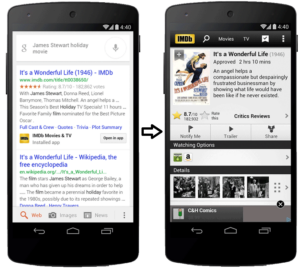 mobile app indexing google