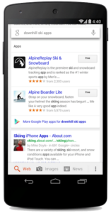 mobile app indexing serps android