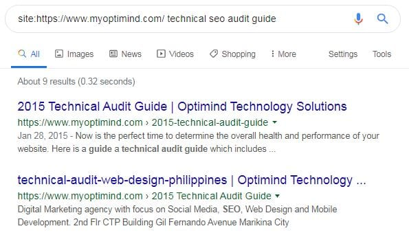 technical seo audit duplicate content check