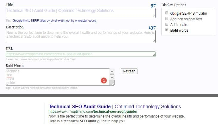 technical seo audit metadata and title tag optimization