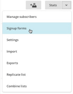 signup forms