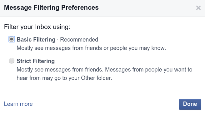 message-filter-preferences
