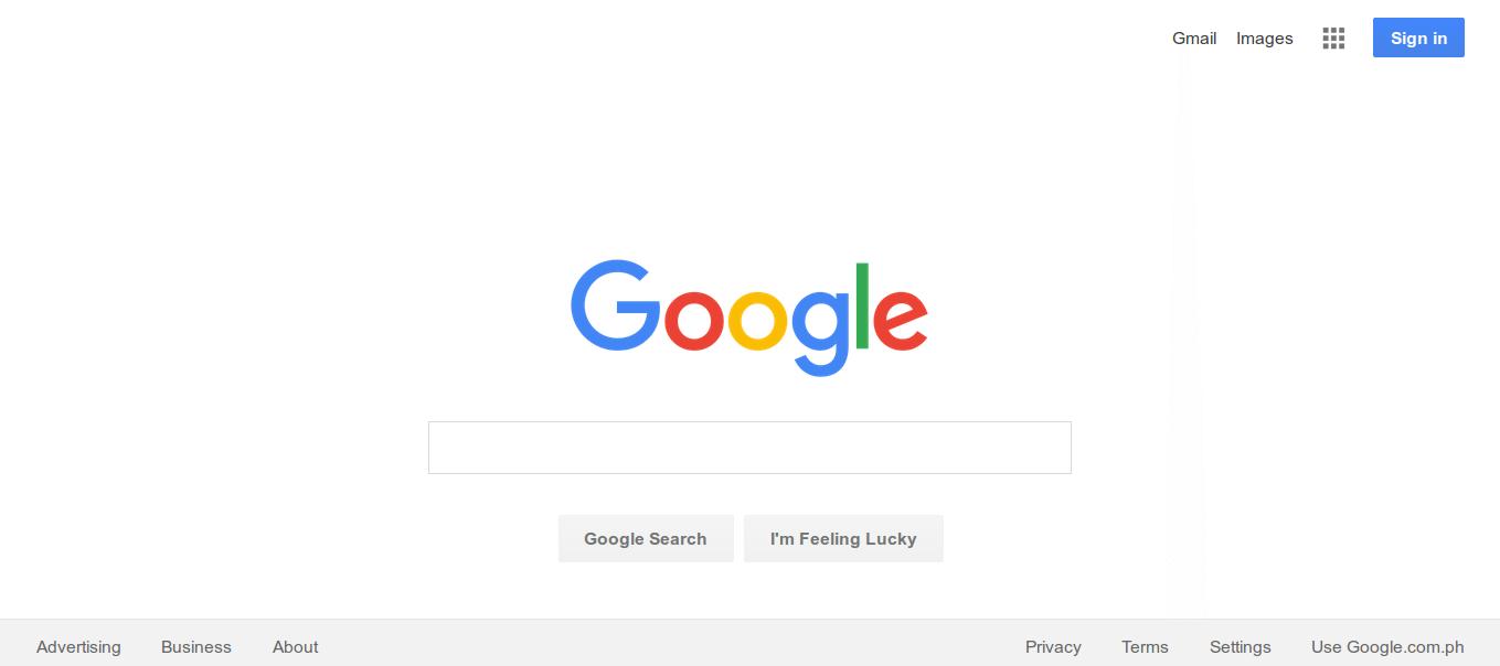 google minimal design
