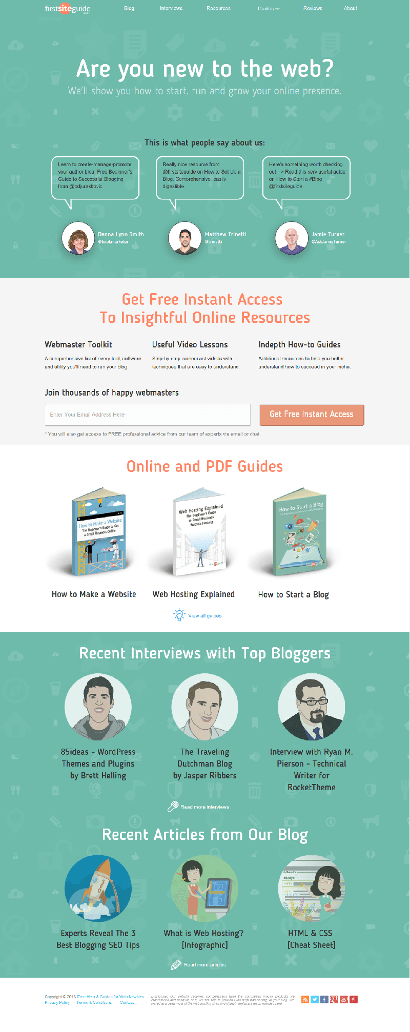 illustrations first site guide