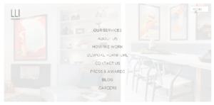 lli design nontraditional menu