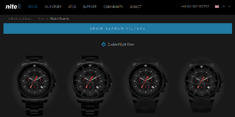 nitewatches microinteractive element