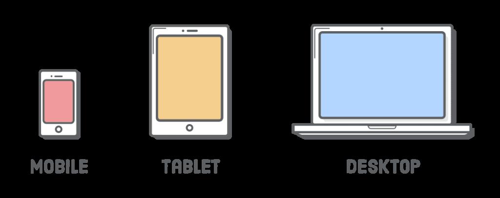 mobile tablet computer plain icons