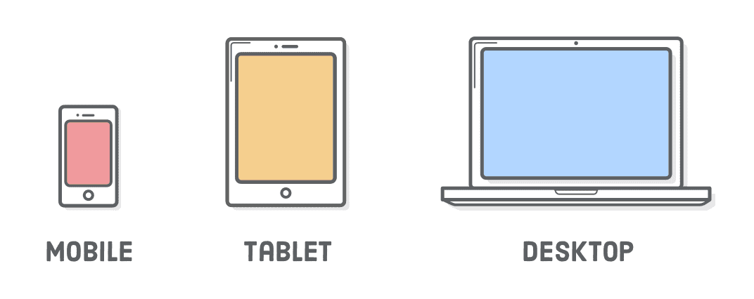 mobile tablet computer plain icons