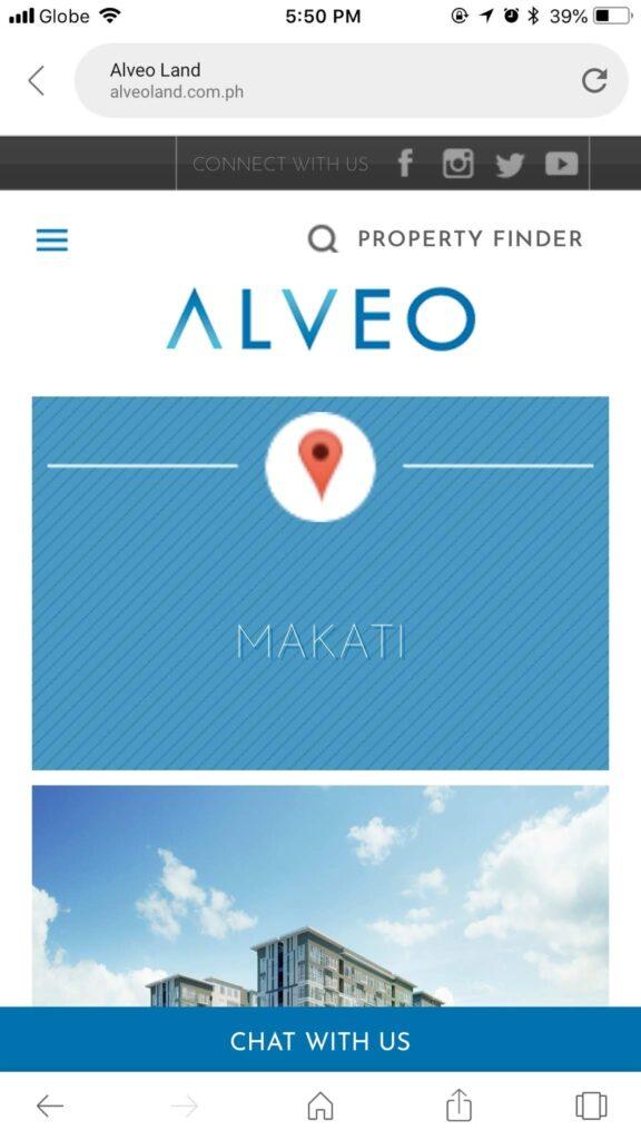 Alveo Mobile Site