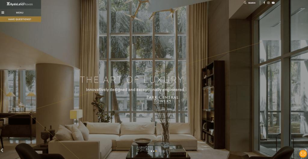 Ayala Land Premier Website