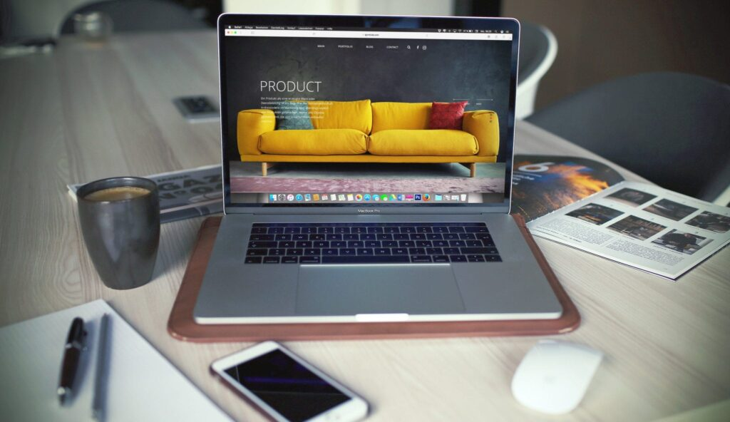 web design of client website